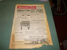 MOTORING NEWS 1970 Dec 31 Springbok win for Chevron, New F1 Ferrari, F Ford review. Rally X